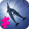 Beautiful Dolphins Jigsaw Puzzle Game game apk icon
