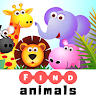 Find animal names | word game | Crossword puzzle. game apk icon