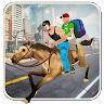 Horse Taxi City School Kids & Off Road Transport game apk icon
