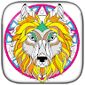 telecharger Wolf and Lion - Livre à colorier pour adulte apk