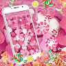 telecharger Dripping Pink Candy Heart Theme apk