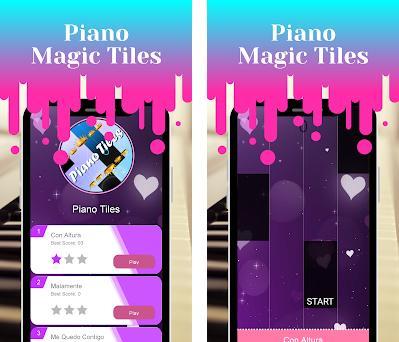 ROSALÍA Yo x Ti, Tu x Mi Piano Magic Tiles Game preview screenshot