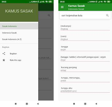 Kamus Bahasa Sasak Offline preview screenshot