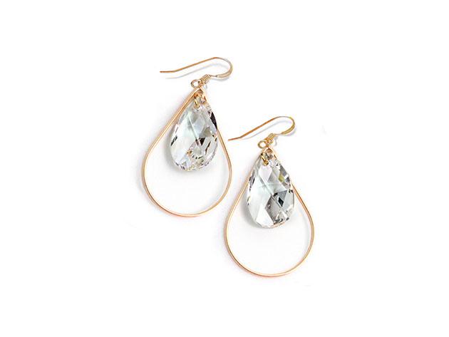 Sonia Hou SELFIE Earrings Ft. Swarovski Crystals (Clear