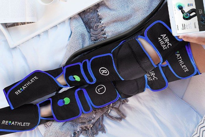 AIR-C + HEAT: Full Leg Massage + Heat Treatment, on sale for $119.98 when you use coupon code BFSAVE20 at checkout
