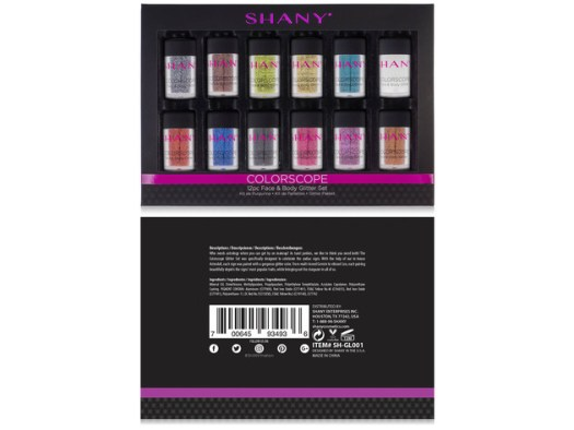SHANY Colorscope 12-Color Face & Body Premium Cosmetics Grade Glitter Powder - Sparkling Loose Glitter Pigments for Festival, Holiday, Hair and Nail Art. for $25 3