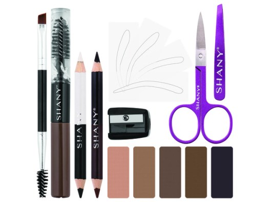 SHANY Brow Chicka Brow Eyebrow Set - 17 Piece Eyebrow Makeup Kit with Brow Powder, Brow Gel, Dual Ended Pencils, Stencils, Scissors, and Tweezers - All Hair Colors for $19 2