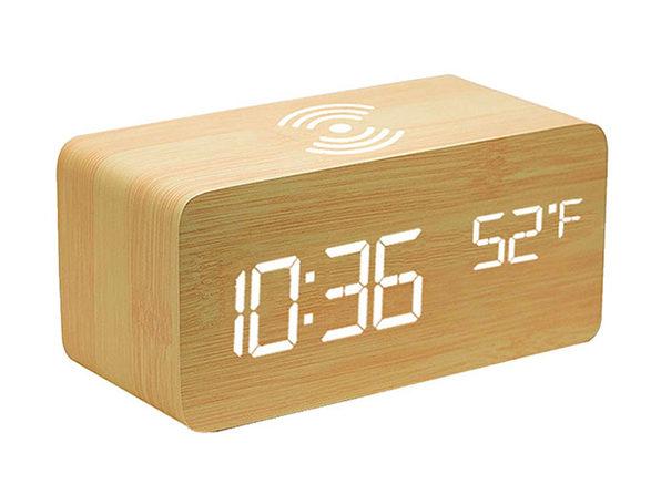 Wooden Alarm Clock Unique, Oct17 Wooden Alarm Clock Manual