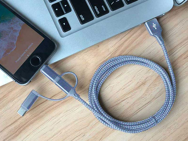 You can connect Apple, Android, Samsung, Google, and Windows devices all from one cable