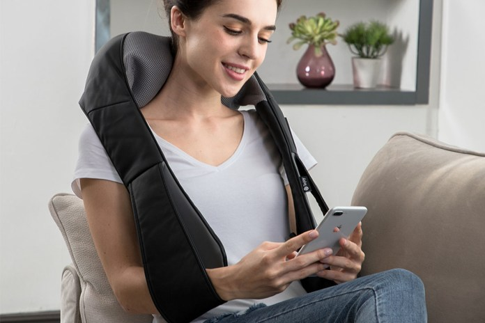 Tekjoy Shiatsu Kneading Massage Pillow with Extended Velcro Strap, on sale for $35.99 when you use coupon code BFSAVE20 at checkout