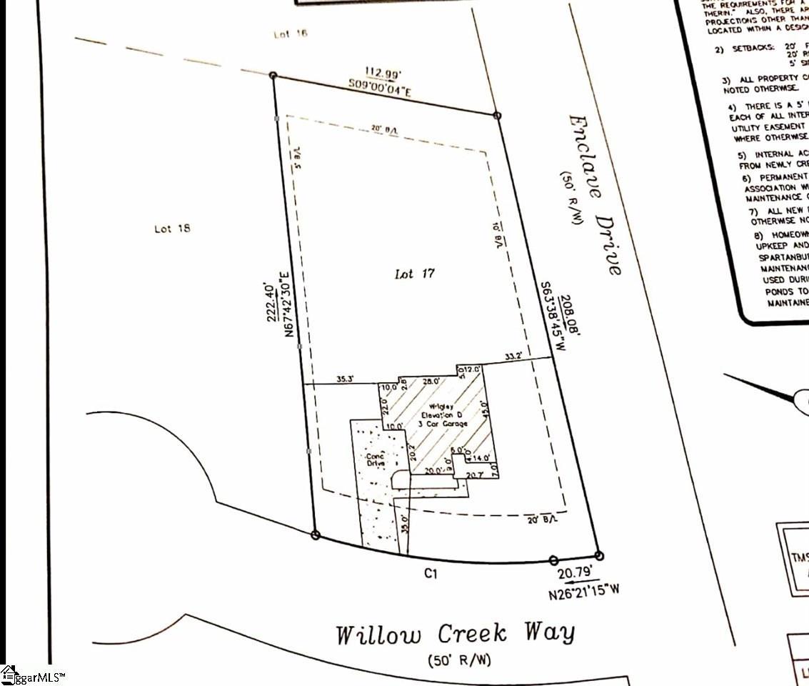 202 Willow Creek, Greer, SC 29651 MLS #1422955