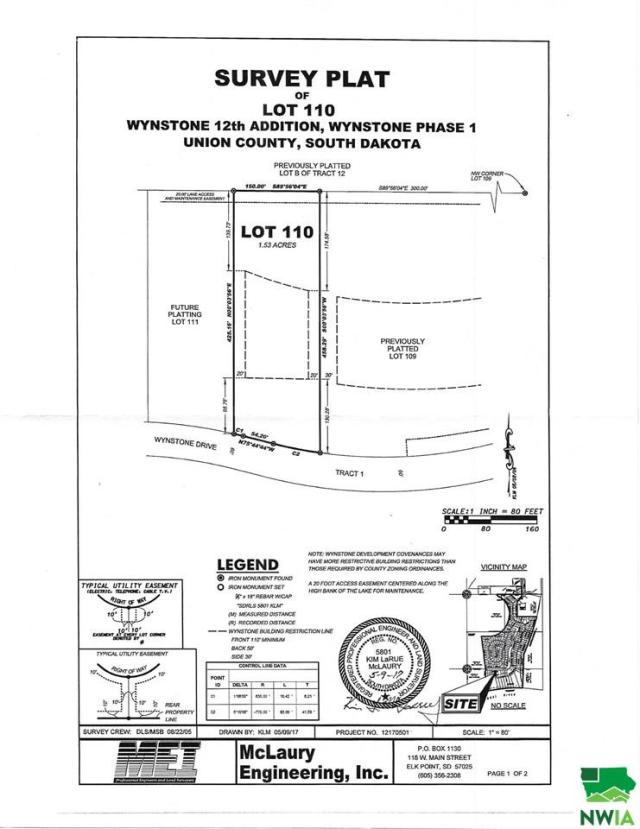 Property for sale at Lot 110 Wynstone Drive, Jefferson,  SD 57038