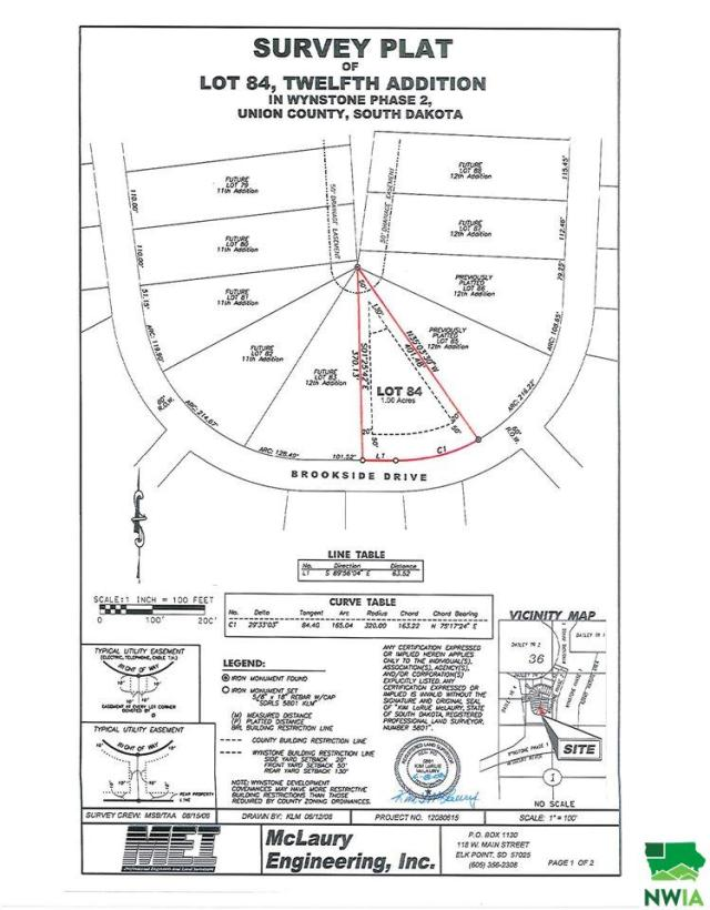 Property for sale at Lot 84 Brookside Drive, Jefferson,  SD 57038