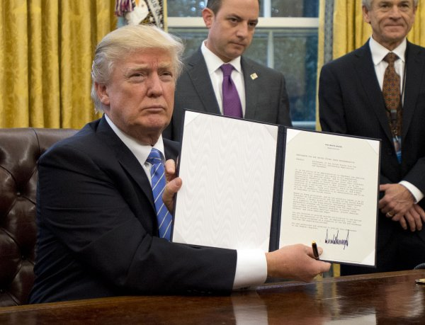 Image result for president trump signs executive orders