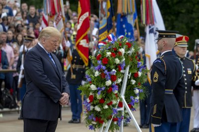 Watch Live Donald Trump Lays Wreath In Memorial Day