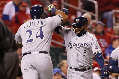 MLB Roundup Jesus Aguilar's 7 RBIs Help Milwaukee Brewers Belt