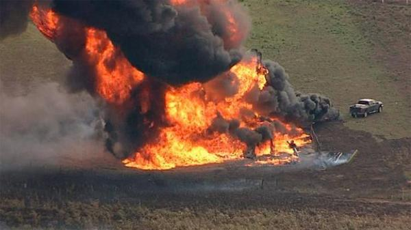 Milford Texas still evacuated after pipeline explosion