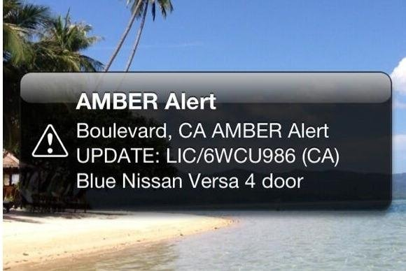 California Issues First Cell Phone Amber Alert Upicom