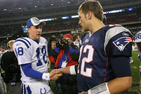 Image result for peyton manning Tom Brady regular season