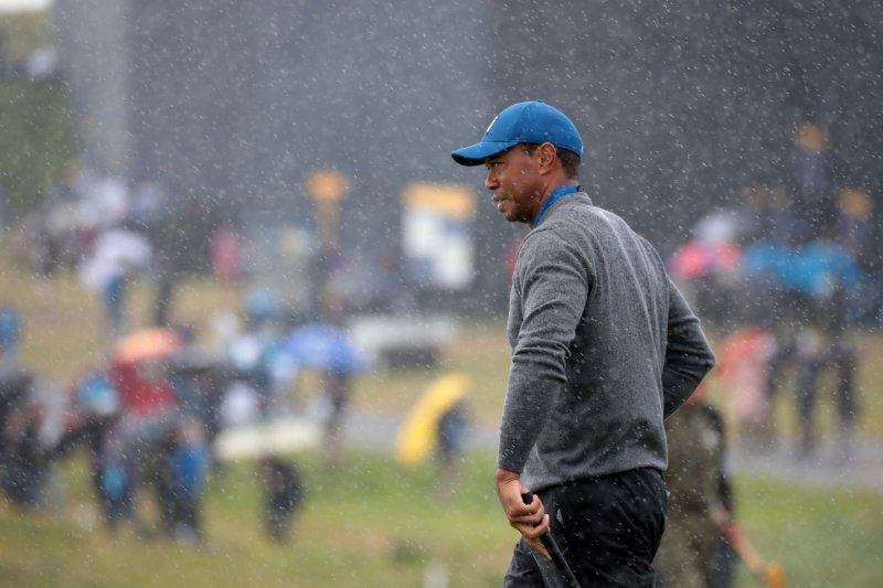 tiger woods at the british open 2019