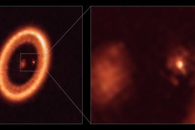 Scientists used the powerful ALMA telescope to identify and measure a circumplanetary disk surrounding an exoplanet located 400 light-years from Earth. Photo by ALMA/ESO/NAOJ/NRAO/Benisty, et al./The Astrophysical Journal