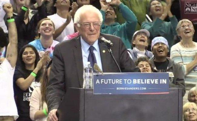 Bird Interrupts Bernie Sanders Rally In Portland Upi