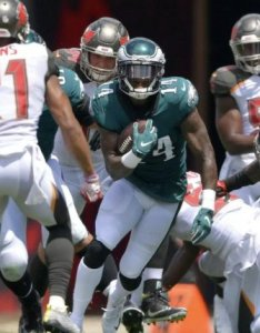 Philadelphia eagles wide receiver mike wallace has not recorded  reception during the season photo courtesy of drew hallowell also  wr breaks leg upi rh