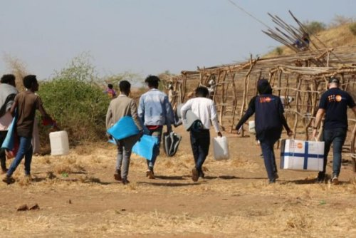 Ethiopian forces attacked the Tigray capital of MekelleThursday as more than 40,000 refugees from the region fled into Sudan, the United Nations said. Photo by Sufian Abdul-Mout/UNFPA