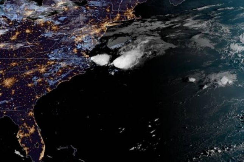 tropical storm dorian gathers