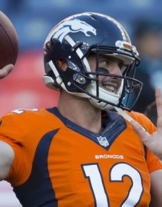 With broncos qb trevor siemian sidelined  sprained foot rookie paxton lynch will get his second start of the season started in week and also denver vs jacksonville jaguars prediction preview pick to rh upi