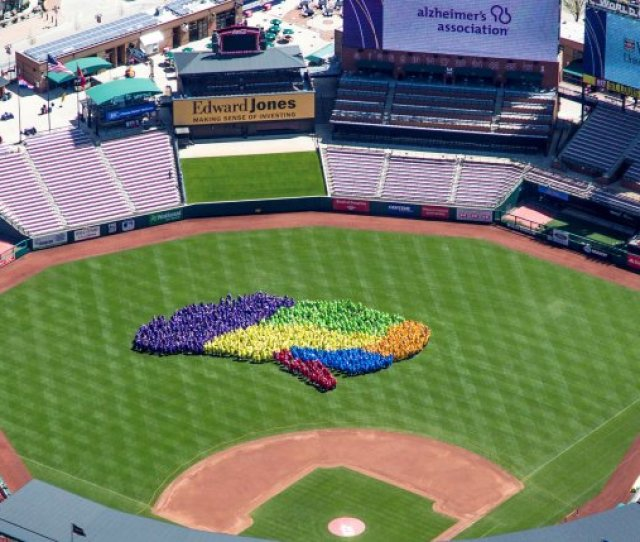 Financial Services Firm Edward Jones And The Alzheimers Association Joined Forces To Set A New Guinness World Record Title For The Largest Human Image Of A