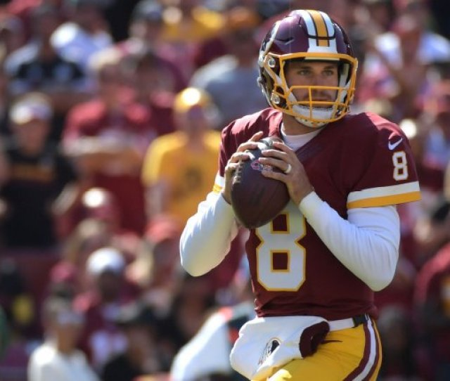Washington Redskins Quarterback Kirk Cousins  Looks To Pass Against The Philadelphia Eagles In The First Quarter On October  At Fedex Field In Landover