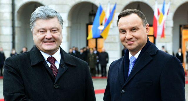 Andrzej Duda i Piotr Poroszenko