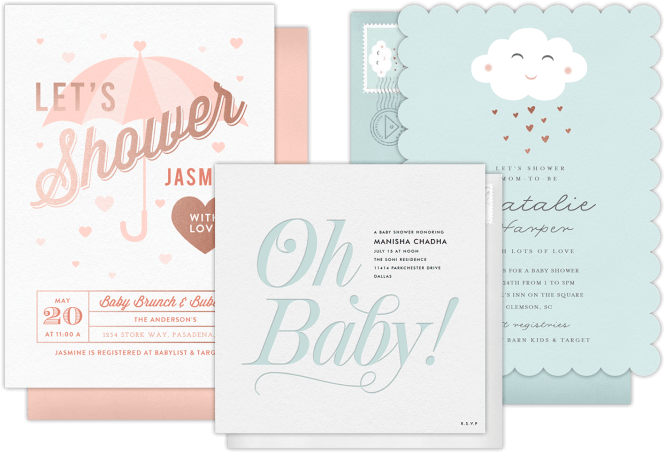 Email Online Baby Shower Invitations