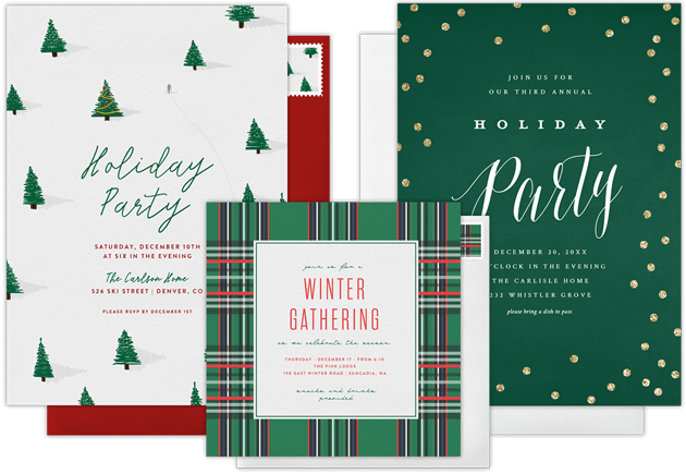 Email Online Holiday Party Invitations that WOW!   Greenvelope.com