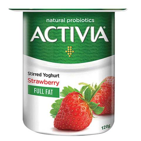 Buy Activia Stirred Yoghurt Full Fat Strawberry 120g ...