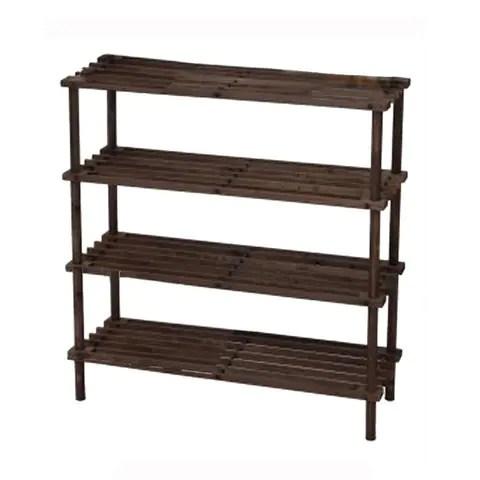 feelings 4 layer wooden shoe rack 74x26x67cm