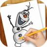 Drawing Lessons Ollaf Frozen app apk icon