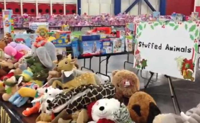 Annual Toys For Tots Giveaway Going On At George R Brown