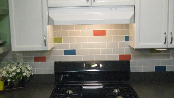 diy subway tile backsplash knock it