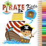 download Pirate Adventure Coloring Book of king apk