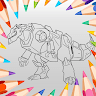 download Coloring Dino Robot 2021 apk