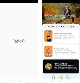 Fat to Fit - lose weight at home female workout Capturas de pantalla