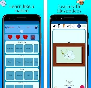 MTL Learn Korean Words preview screenshot