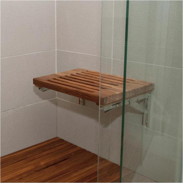 Wall Mount Fold Down Teak Shower Benches