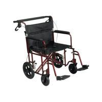 Medline Freedom Lightweight Bariatric Transport Chair ...