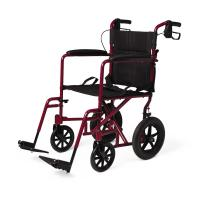 Medline Aluminum Transport Chair With 12 Inch Wheels ...