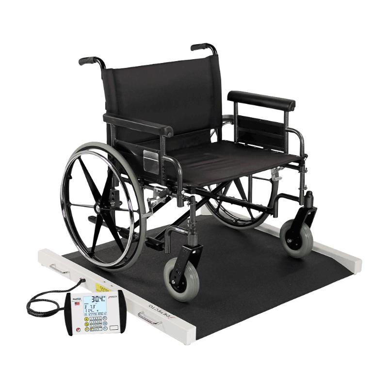 portable wheel chair tufted dining room chairs detecto wheelchair scale scales