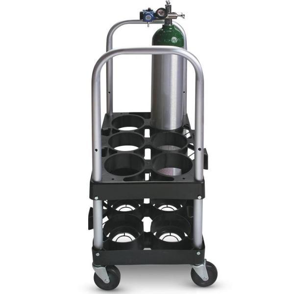 Medline Rack Roll Modular Cylinder O2 Cart System