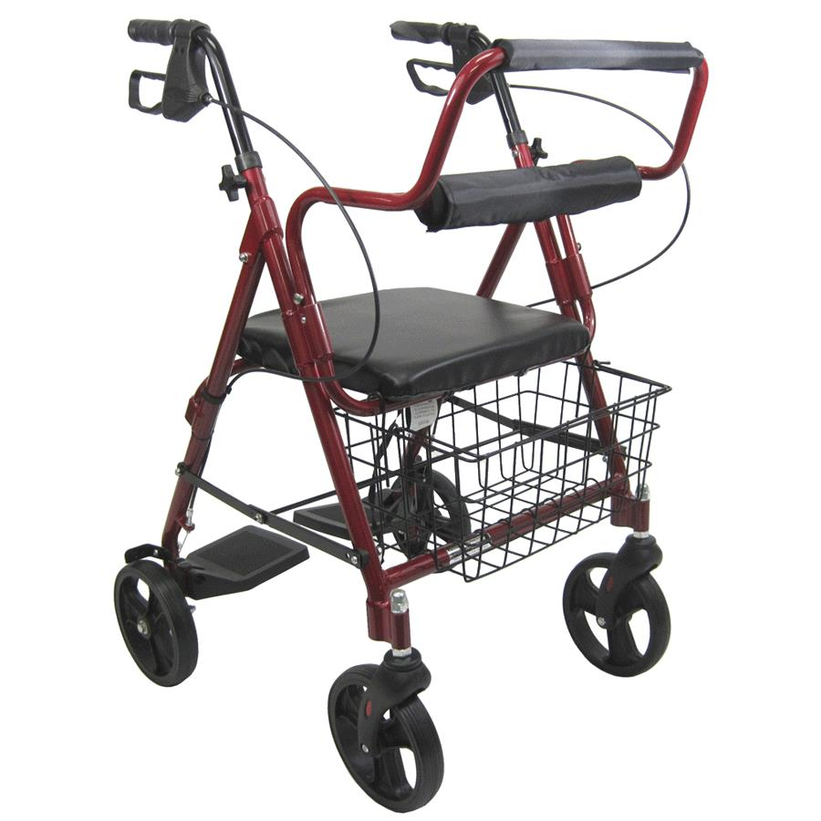 folding junior chair captains chairs for boats rose healthcare four wheel rollator | hemi rollators